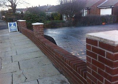 Low level brick wall