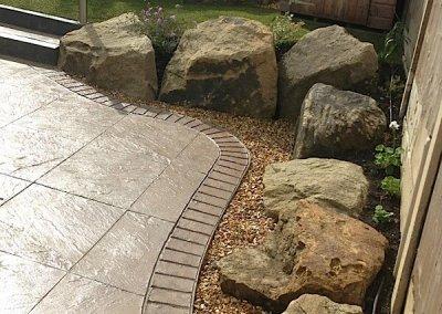 Pattern imprinted concrete in Runcorn
