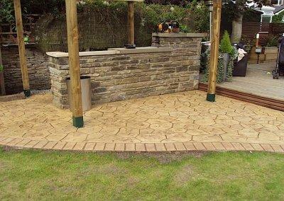 printed concrete patio in Bury