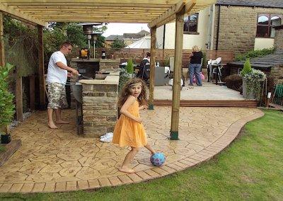 Pressed concrete patio in Bury