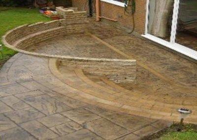 Concrete patio in Bolton