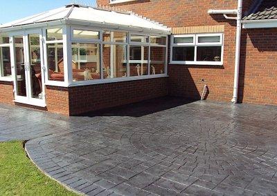 Concrete patio in Bury