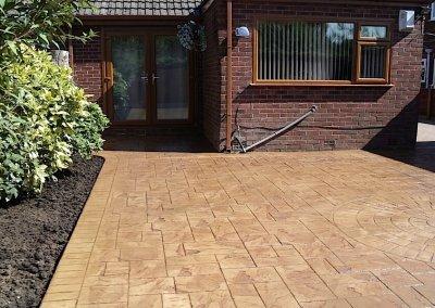 concrete patios in Bury