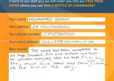 Mohammed Qasim Recommendation