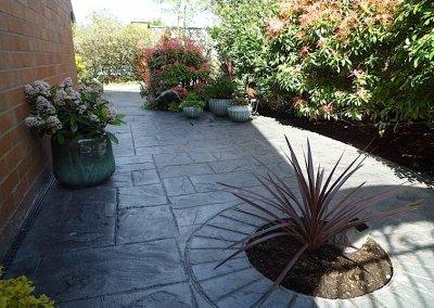 Concrete patio installation in Cheshire