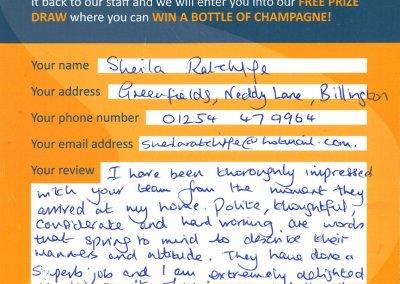 Sheila Ratcliffe Recommendation