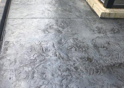 Textured concrete surface