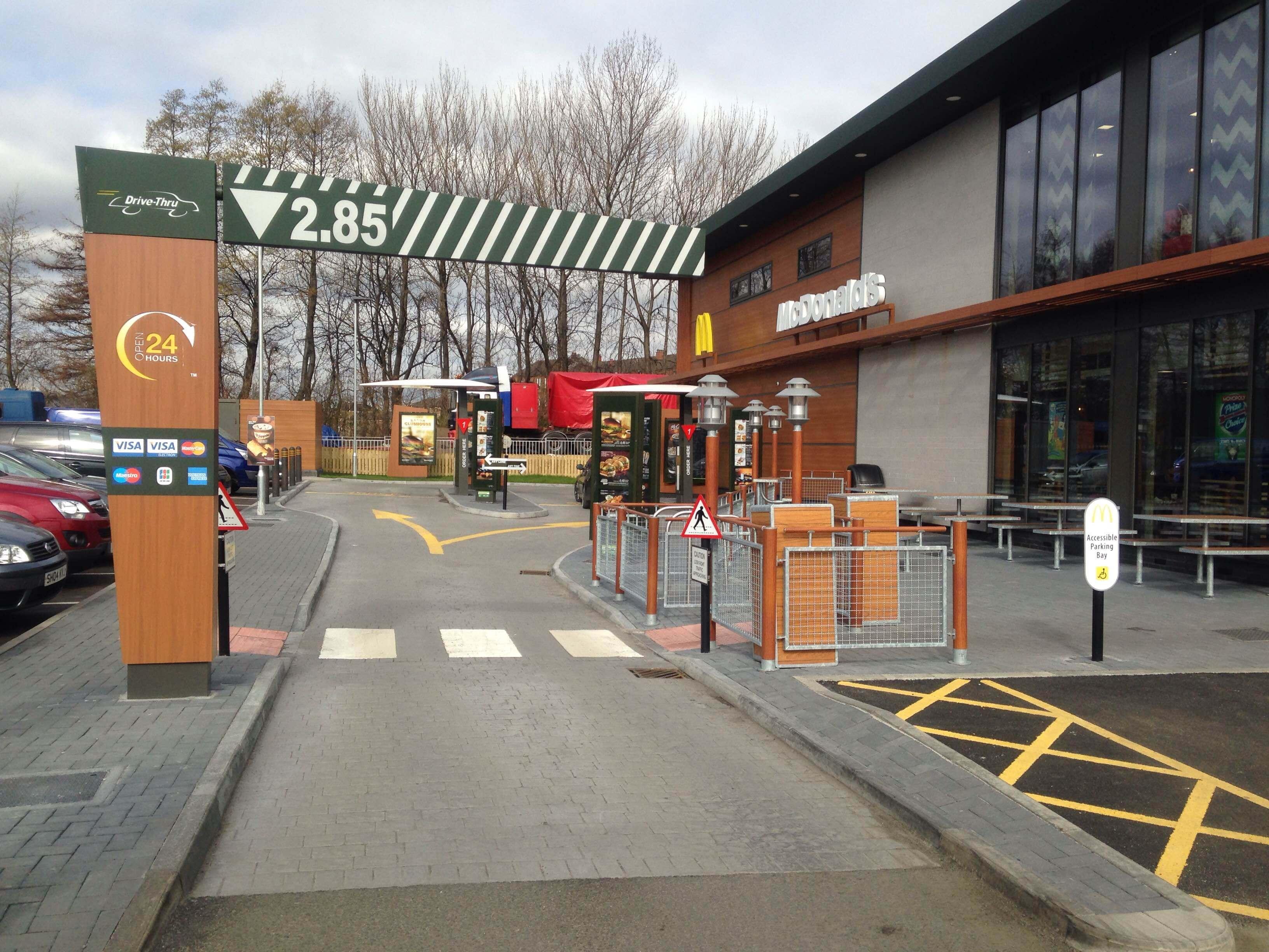 McDonalds drive thru lane