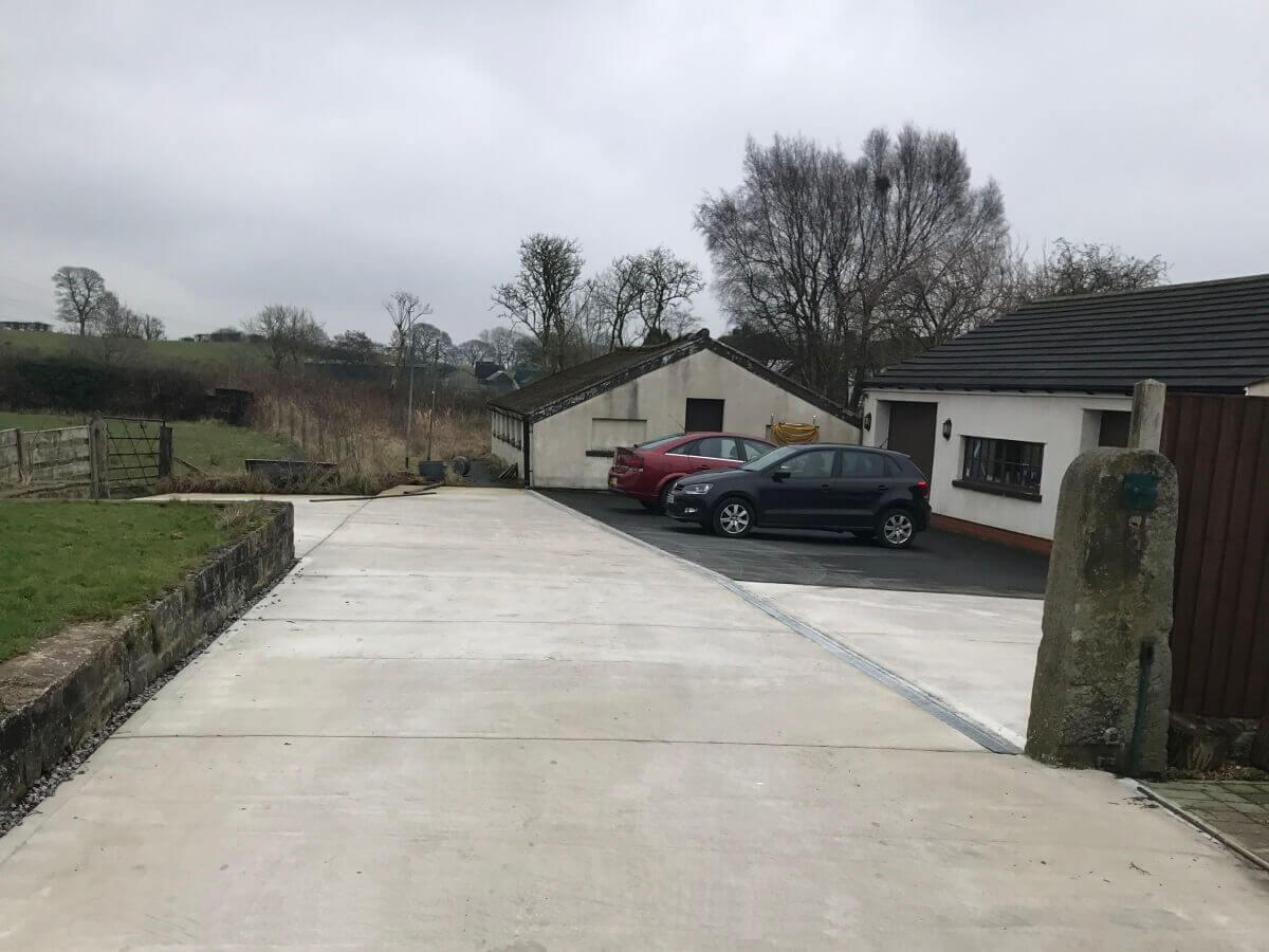 Hawkshaw Concrete Finished Entrance