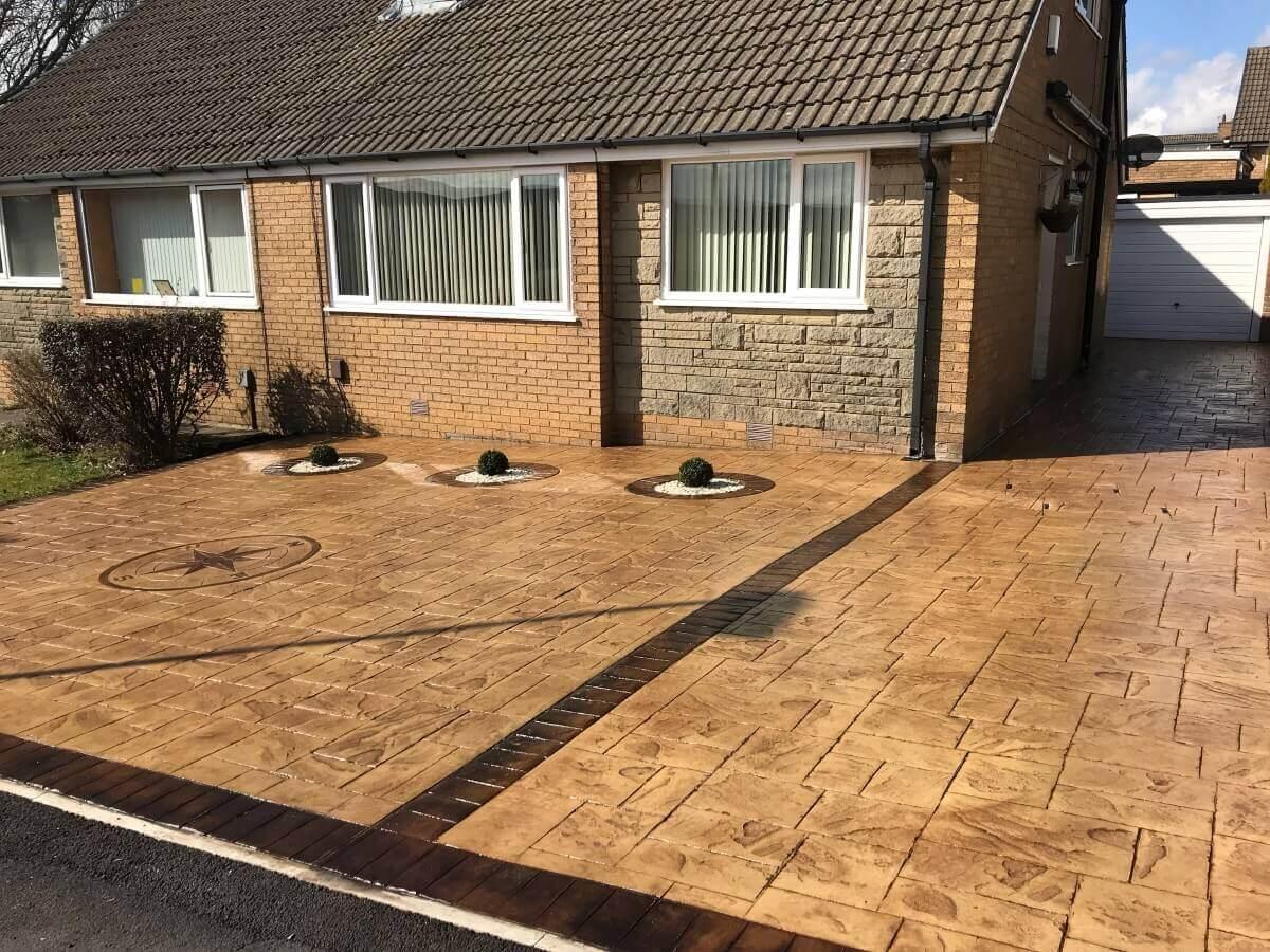 Pattern Imprinted Concrete Driveway Burnley