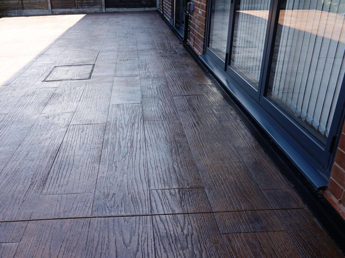 Concrete Decking Patio Rochdale