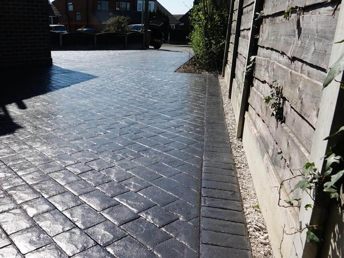 Imprinted Concrete Driveway Milnrow