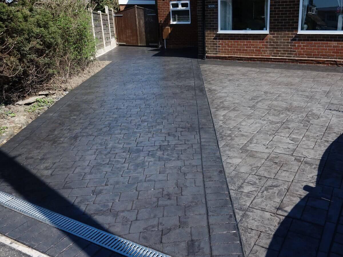 Pattern Imprinted Concrete Driveway Milnrow