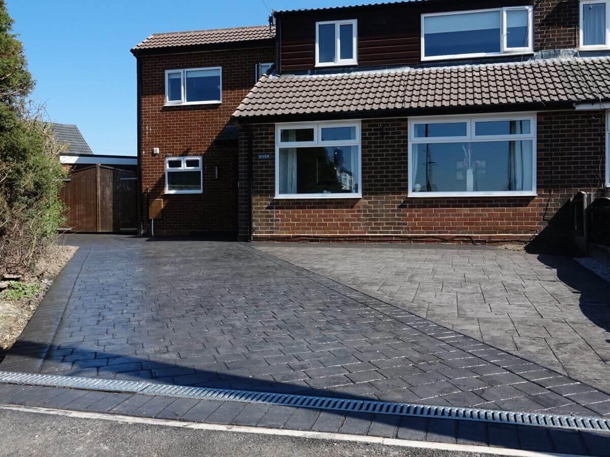 Pattern Imprinted Concrete Driveway Rochdale