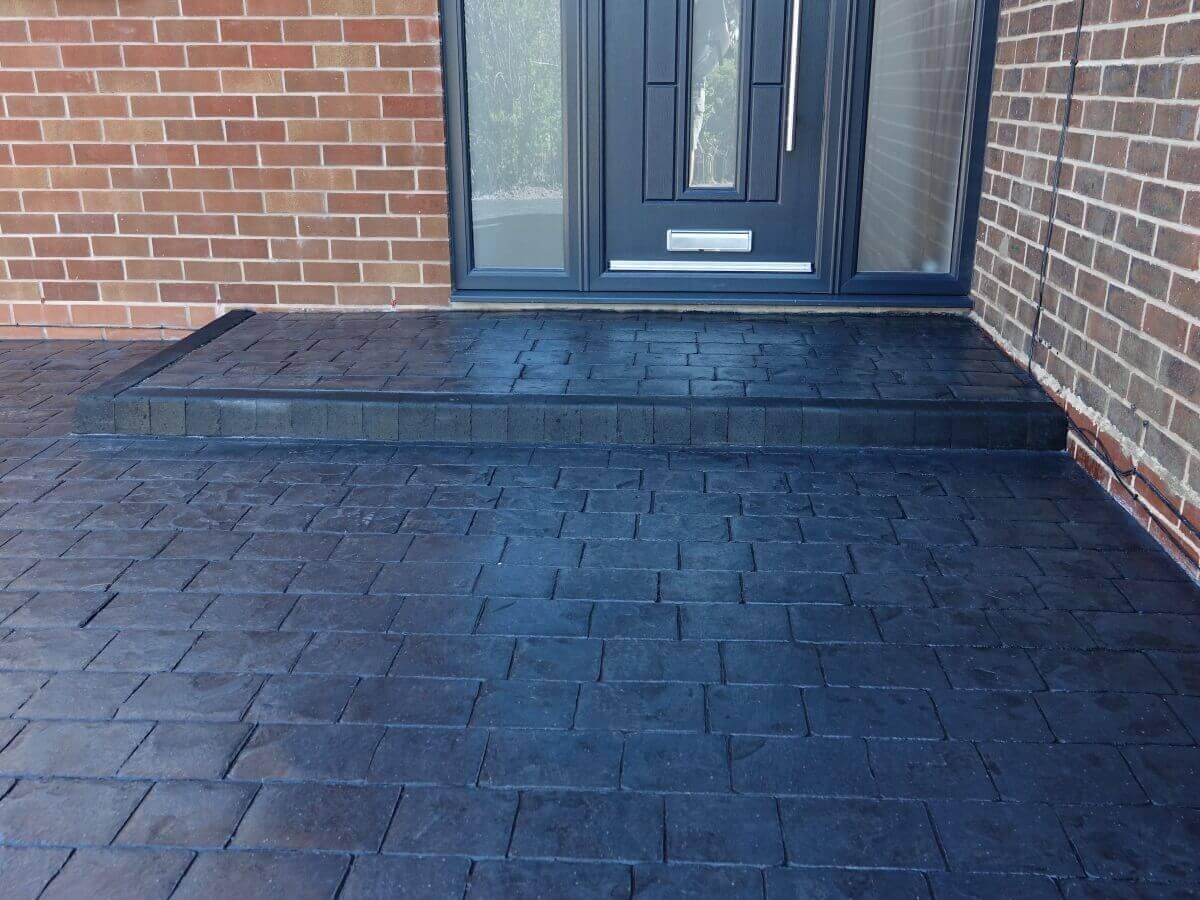 Patterned Concrete Step Milnrow